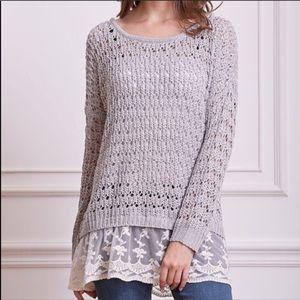 Sweaters - NEW Loose Knit Sweater Tunic Size Large Boho Gypsy